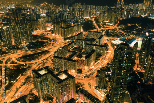 Night of cityscape, Kowloon, Hong Kong