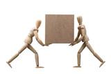 Wooden Dummy Carrying Cardboard Box - 229917751
