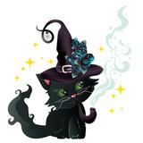 Black witch kitten