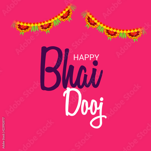 Leinwandbild Motiv  indian festival of Happy Bhai Dooj Celebration.