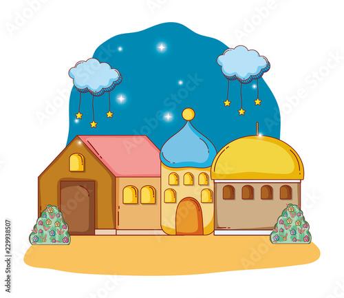 adobe house cartoon - 229938507