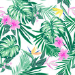Vector seamless tropical pattern - 229945589