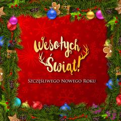 Polish Christmas and Happy New Year greeting card © detakstudio