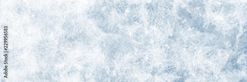Leinwandbild Motiv Textur blaues Eis, Winter Hintergrund für Werbeflächen