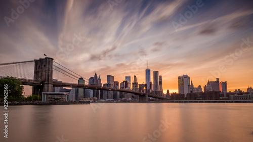 Foto Murales Sonnenuntergang über Manhatten