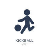 kickball icon. Trendy flat vector kickball icon on white background from sport collection