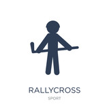 rallycross icon. Trendy flat vector rallycross icon on white background from sport collection
