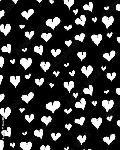 Seamless graphic pattern with hearts - 229966319