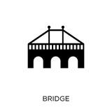 Bridge icon. Bridge symbol design from Architecture collection.