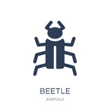 Beetle icon. Trendy flat vector Beetle icon on white background from animals collection