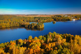 Autumnal scenery at the lake in Poland - 229971528