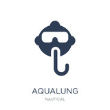 Aqualung icon. Trendy flat vector Aqualung icon on white background from Nautical collection - 229984751