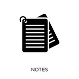 Notes icon. Notes symbol design from Online learning collection. Simple element vector illustration. Can be used in web and mobile. - 229986139