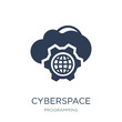 Cyberspace icon. Trendy flat vector Cyberspace icon on white background from Programming collection