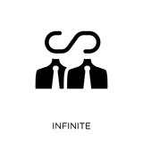 Infinite icon. Infinite symbol design from Time managemnet collection. Simple element vector illustration. Can be used in web and mobile. - 229996309