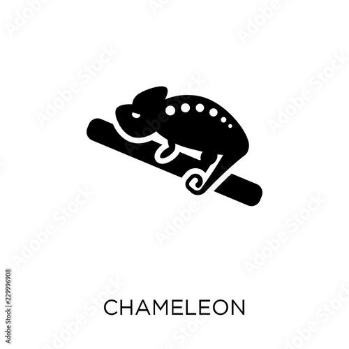 Ikona kameleona. Projekt symbolu kameleona z kolekcji Zwierzęta.