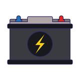 Car battery symbol
