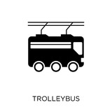 Trolleybus icon. Trolleybus symbol design from Transportation collection. Simple element vector illustration. Can be used in web and mobile.