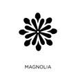 Magnolia icon. Magnolia symbol design from Nature collection.