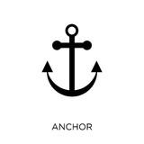 Anchor icon. Anchor symbol design from Nautical collection.