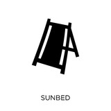 Sunbed icon. Sunbed symbol design from Summer collection. - 230011929