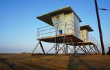 Lifeguard tower on beach - 230022122