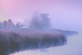 Beautiful rural morning landscape.