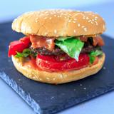 burger seul pour un repas rapide en fast food snack