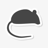 Mouse wild animal flat sticker