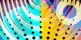 Geometric colorful abstract background - 230050581