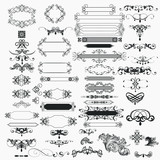Collection of vector  vintage design elements - 230053564