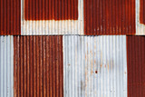 rusty corrugated metal wall background - 230061525