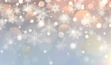 Christmas background with snowflakes, winter snow background