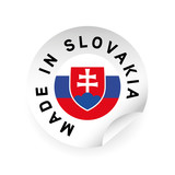 Made in Slovakia flag sticker