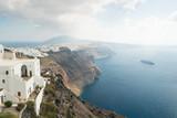Imerovigli village on the island of Santorini. - 230086119