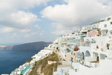 Imerovigli village on the island of Santorini. - 230086160