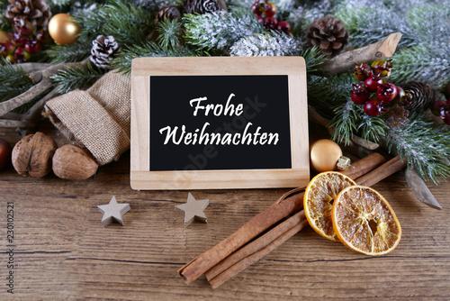 Leinwanddruck Bild Frohe Weihnachten