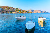 beautiful view on Symi island, Dodecanese, Greece - 230112163