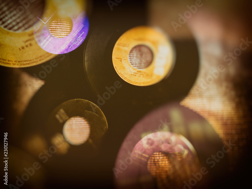 Vinyl records collection vintage background - 230127946