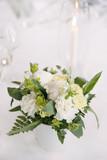 Bouquet centre de table vert et blanc - 230134782