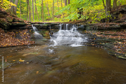 Waterfall In Autumn - 230141505