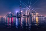 city purple lights