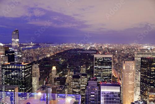 Ausblick vom Rockefeller Center bei Nacht, Manhattan, New York City, New York, USA, Nordamerika