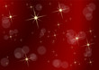 Christmas in red, empty background made with starry sky and blurry lights