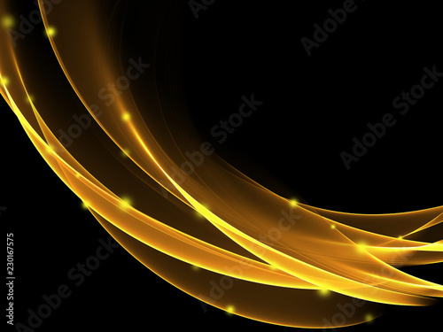 Abstract light wave futuristic background - 230167575