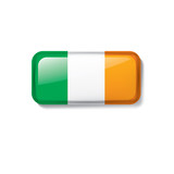 Ireland flag, vector illustration on a white background