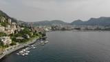 Aerial drone shot of Lake Como, Italy - 230194518