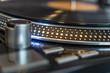Turntable platter vinyl record closeup
