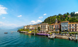 View of beautiful architecture of Bellagio town, lake Como, Italy. - 230212178