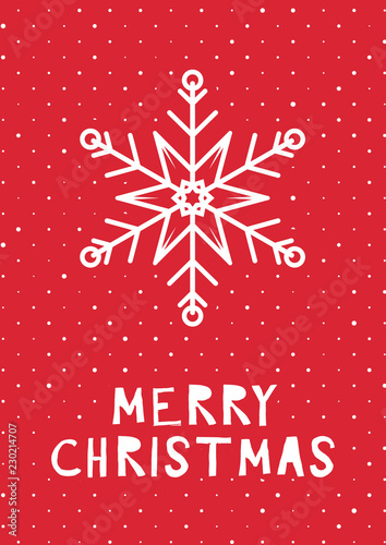 Retro styled christmas card